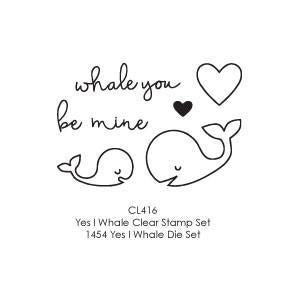 Poppystamps Stamp Sets  - Yes I Whale Clear Stamp Set