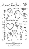 Poppystamps Stamp Sets  - Be Mine Penguins Clear Stamp Set
