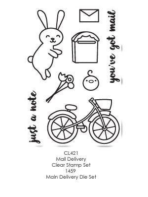 Poppystamps Stamp Sets  - Mail Delivery Clear Stamp Set