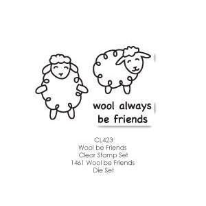 Poppystamps Stamp Sets  - Wool Be Friends Clear Stamp Set