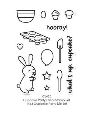Poppystamps Stamp Sets  - Cupcake Party Clear Stamp Set