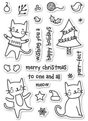 Poppystamps - Purrfect Holidays Clear Stamp Set