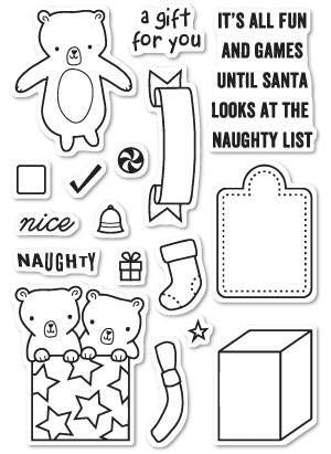 Poppystamps - Naughty Or Nice Clear Stamp Set