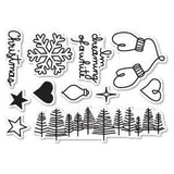 Poppystamps - Dreaming Of A White Christmas Clear Stamp Set