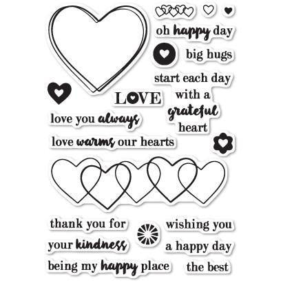 Memory Box - CL443 Grateful Heart clear stamp set