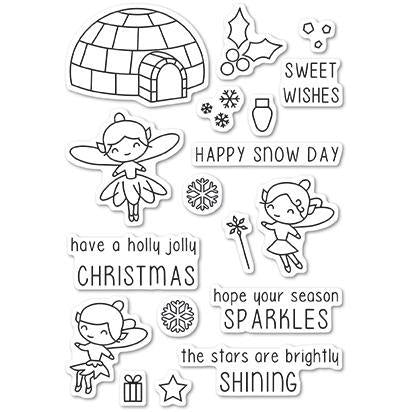 Poppystamps Clear Stamps - Wintertime Fairies