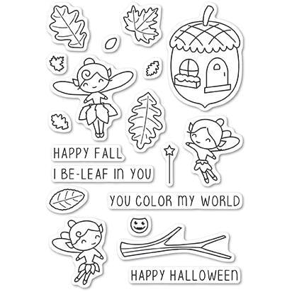 Poppystamps Clear Stamps - Autumn Fairies