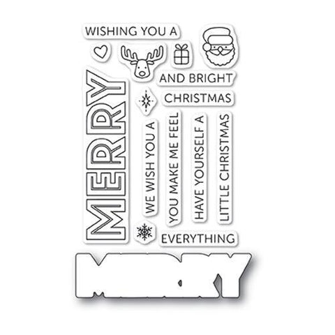Poppystamps Stamp Set - Merry Everything clear stamp set