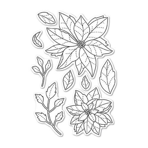 Poppystamps Stamp Set - Poinsettia Delights clear stamp set