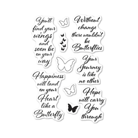 Poppystamps - Clear stamp set - Butterfly Greetings