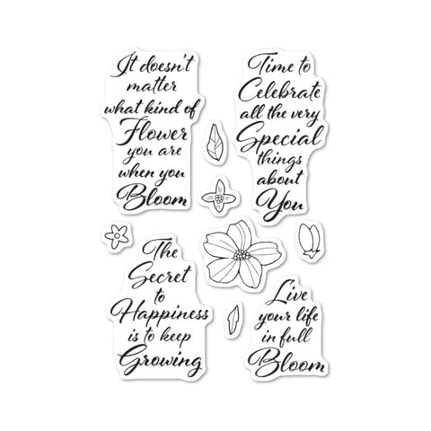 Poppystamps - Clear stamp set - Blooming Greetings