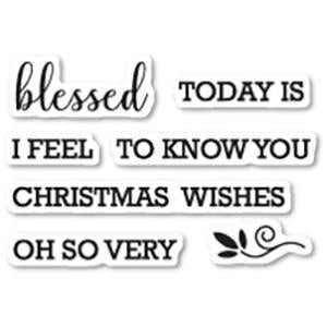 Memory Box Stamp - Blessed to Know You Clear Stamp Set