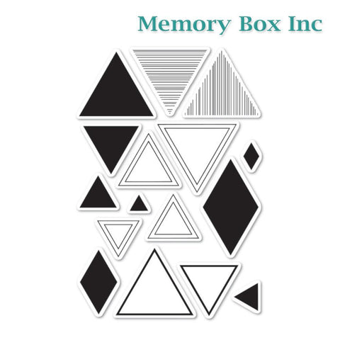 Memory Box - Equal Triangle clear stamp set