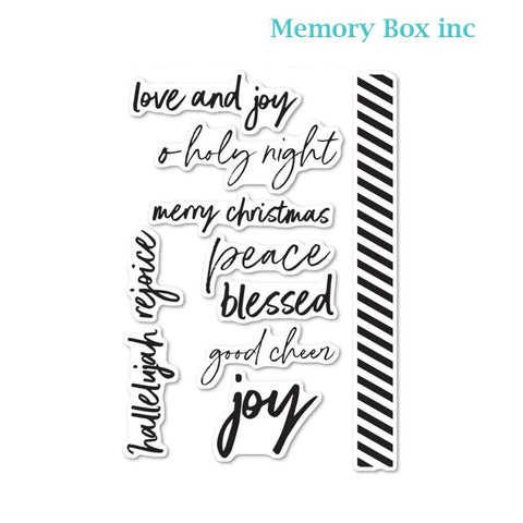 Memory Box - Bold Christmas Greetings clear stamp set