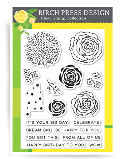 Memory Box - Birch Press Designs - Time to Celebrate Clear Stamp Set