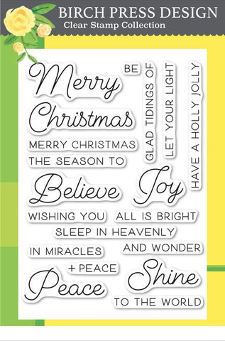 Birch Press Design Clear Stamps - Joy and Peace