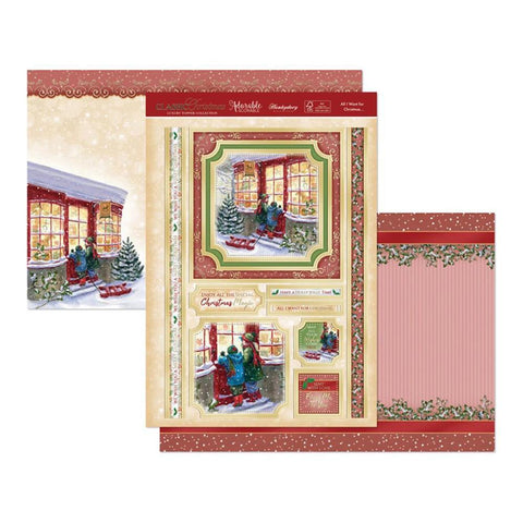 Hunkydory Classic Christmas Luxury A4 Topper Set - All I Want For Christmas