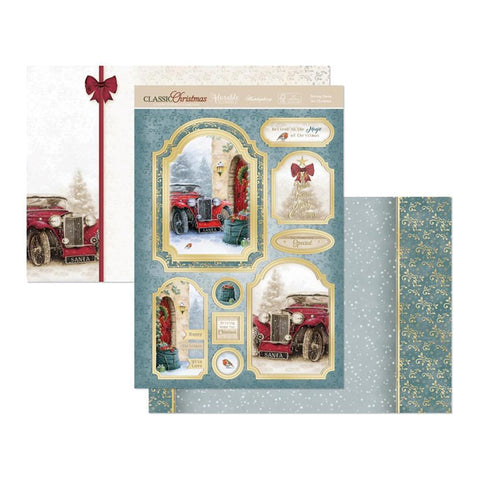 Hunkydory Classic Christmas Luxury A4 Topper Set - Driving Home For Christmas