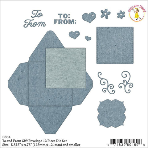 Cheery Lynn Designs Envelope Die To & From Gift, .375 inch To 5 inch