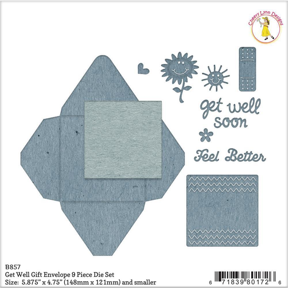 Cheery Lynn Designs Envelope Die Get Well Gift, .25 inch To 5.875 inch