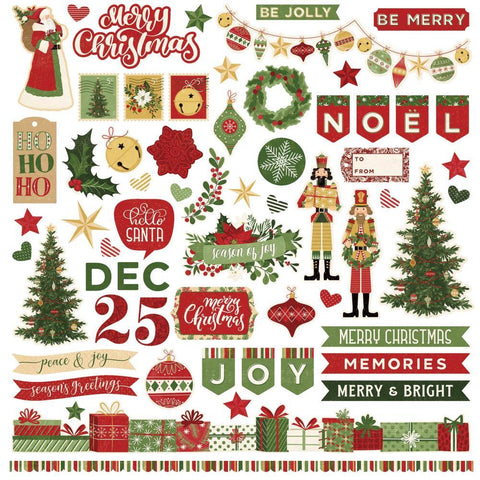 PhotoPlay - Christmas Memories Stickers 12x12 inch - Elements