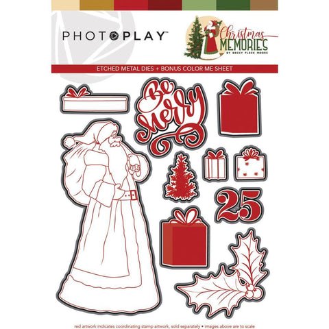 PhotoPlay Etched Die - Santa, Christmas Memories