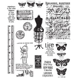 Tim Holtz Cling Stamps 7 inchX8.5 inch - Attic Treasures