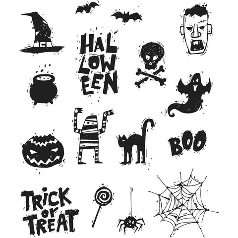 Tim Holtz Cling Stamps 7x8.5inch - Spooky Scribbles