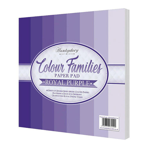 Hunkydory Colour Families Double-Sided Paper Pad - Royal Purple