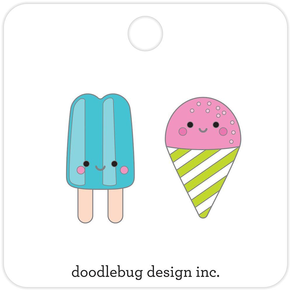 Doodlebug Collectible Enamel Pins 2 pack - Summer Treats
