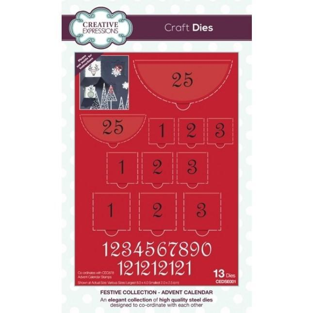 Creative Expressions Dies - Festive Collection - Advent Calendar