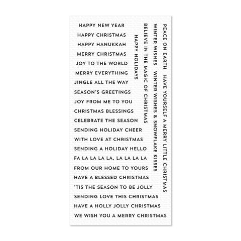 My Favorite Things Clear Stamp Set 4 inch x 8 inch - Bitty Holiday Wishes