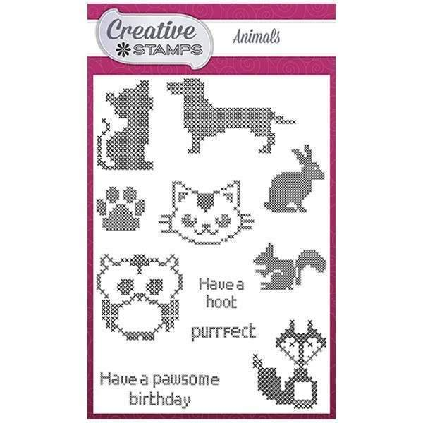 Creative Stamps Cross Stitch Collection A6 Stamp Set - Animals