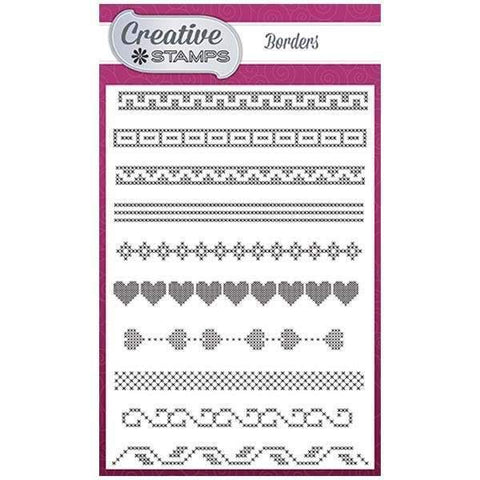 Creative Stamps Cross Stitch Collection A6 Stamp Set - Borders