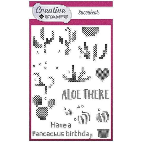 Creative Stamps Cross Stitch Collection A6 Stamp Set - Succulents