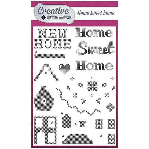 Creative Stamps Cross Stitch Collection A6 Stamp Set - Home Sweet Home