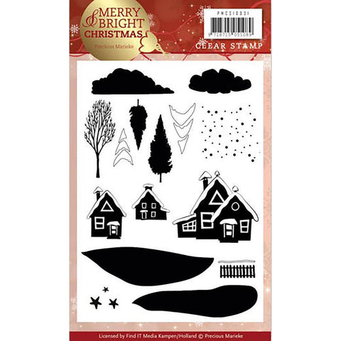 Find It Precious Marieke Merry & Bright Clear Stamps - Christmas House