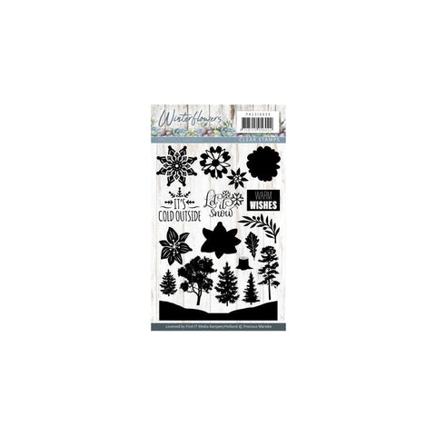 Find It Precious Marieke Winter Flowers Clear Stamps - Let It Snow