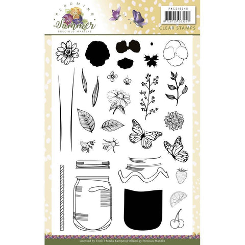 Find It Trading Precious Marieke Clear Stamps - Blooming Summer