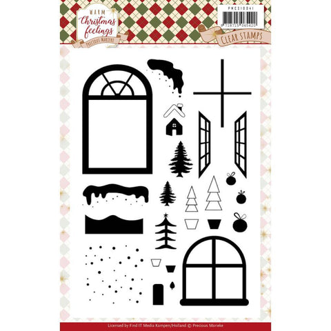 Find It Trading Precious Marieke Clear Stamps - Warm Christmas Feelings