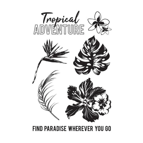 Kaisercraft Clear Stamps 6x4in - Paradise Found
