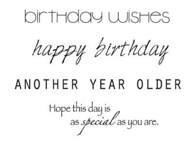 Kaisercraft Mini Clear Stamps 2.25 inch X3 inch Birthday Words