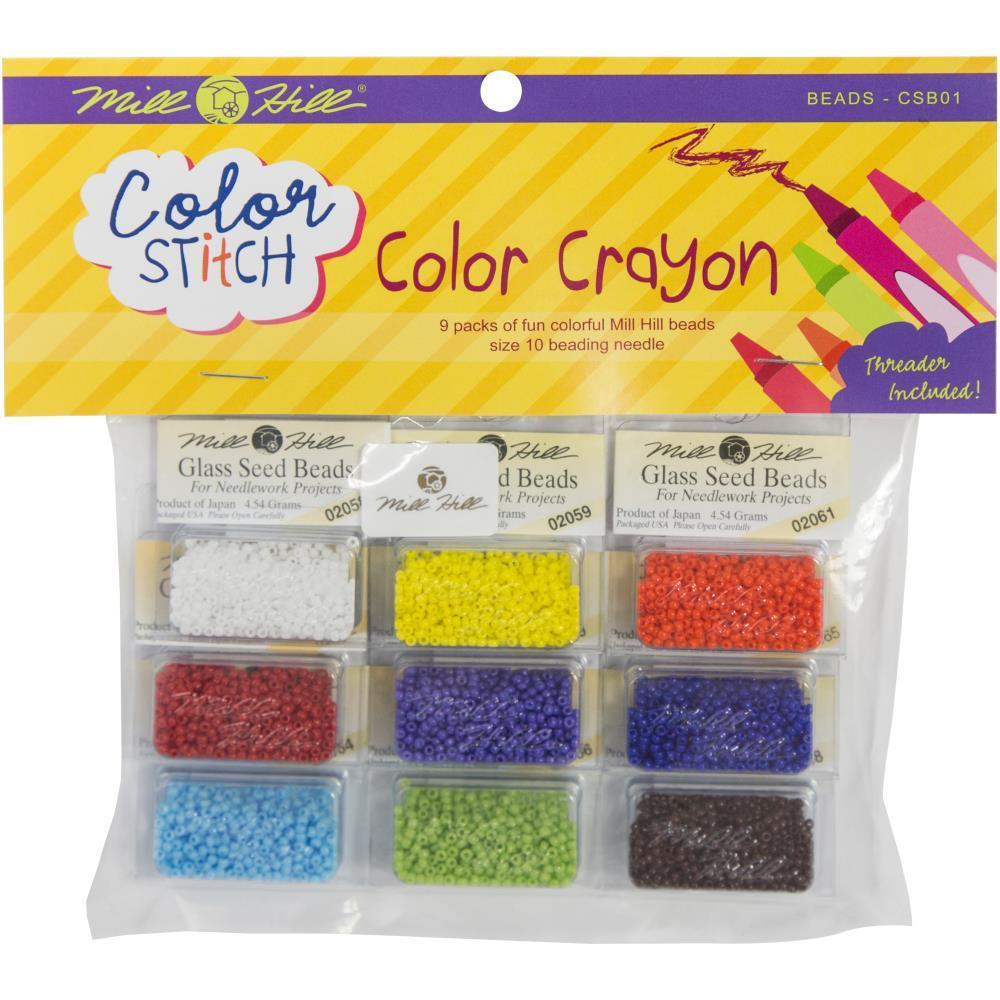 Mill Hill Colour Stitch Bead Assortment 9 pack Colour Crayon