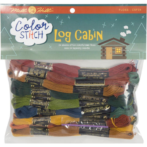 Mill Hill Colour Stitch Floss Starter Pack 24 pack Log Cabin