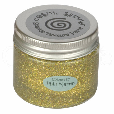 Phill Martin Cosmic Shimmer Sparkle Texture Paste - Graceful Mustard