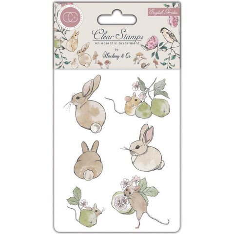 Craft Consortium A5 Clear Stamp Set - English Garden