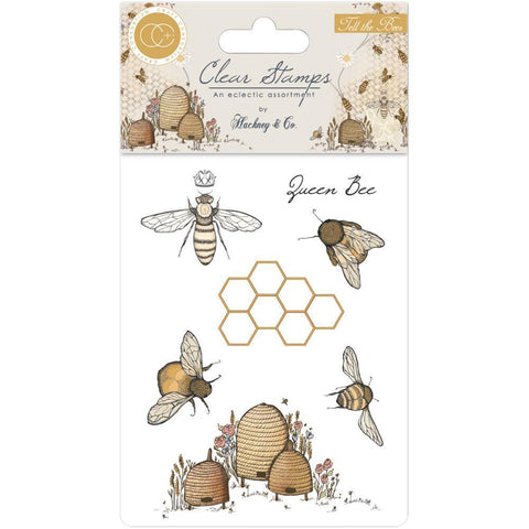 Craft Consortium A5 Clear Stamps - Tell The Bees