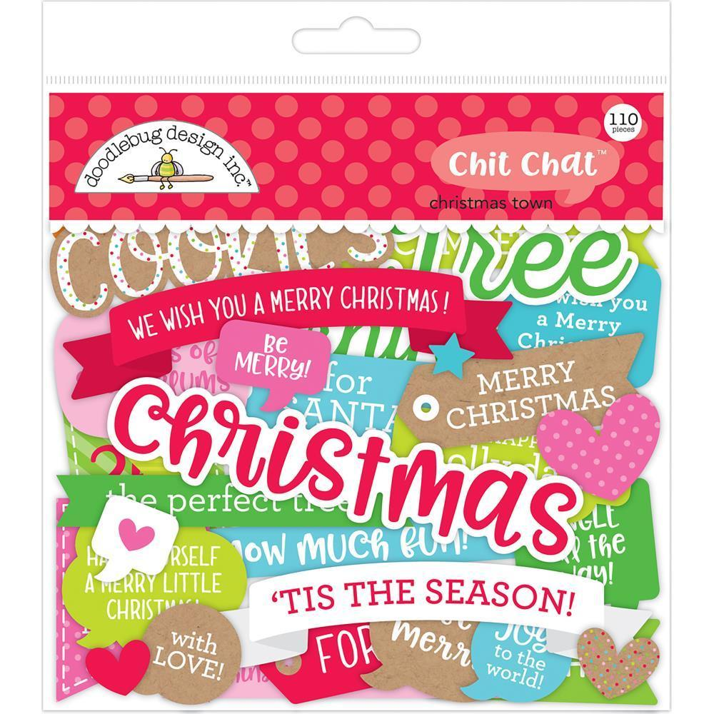 Doodlebug Odds & Ends Die-Cuts 110 pack - Christmas Town - Chit Chat