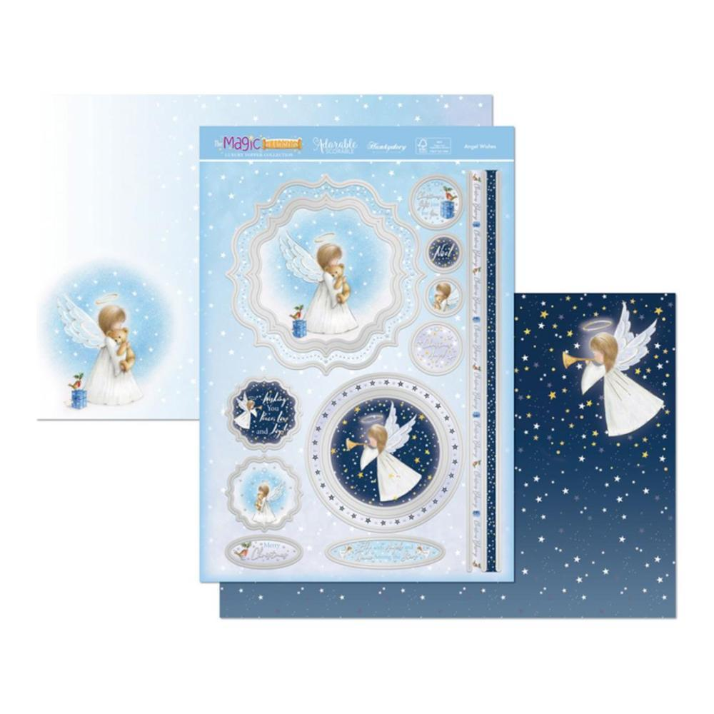 Hunkydory The Magic Of Christmas Luxury A4 Topper Set - Angel Wishes