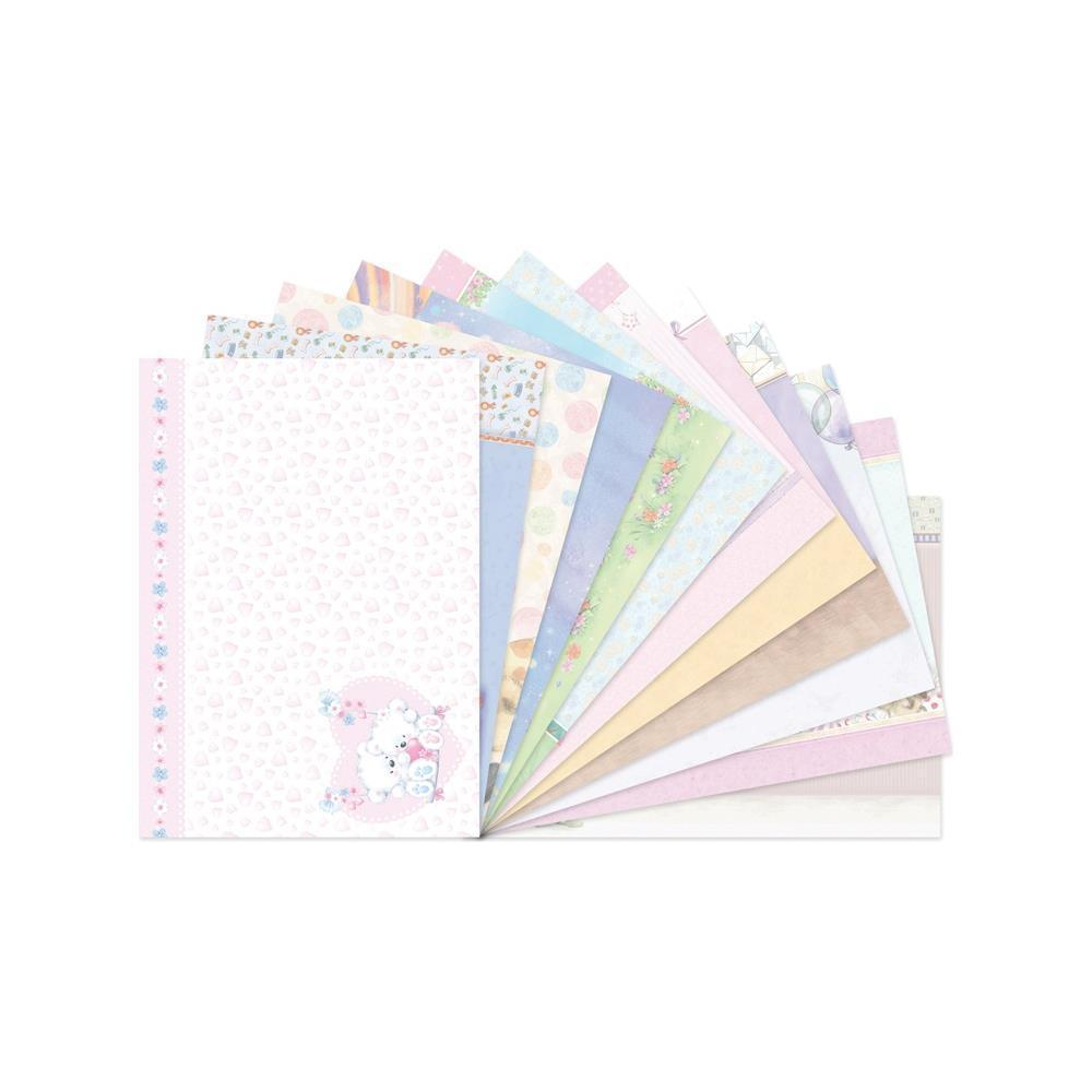 Hunkydory Cute & Cuddly A4 Card Inserts 12 pack - 12 Designs/1 Each